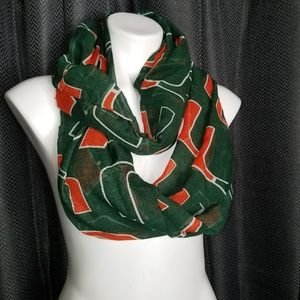University of Miami Infiniti scarf